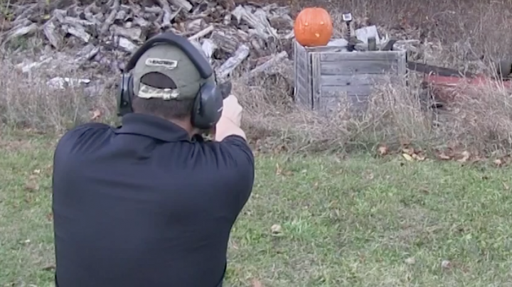 Pumpkin Carving With A Handgun Preview Image