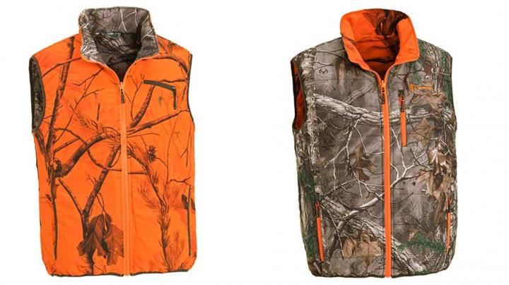 Pinewood Red Deer Vest in Realtree Xtra and Blaze  Preview Image
