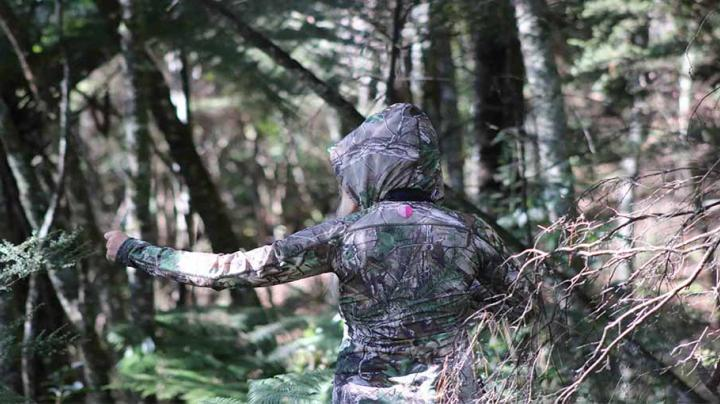 Layer Up with Stoney Creek's Women's Stretch Hoodie in Realtree Xtra Green Preview Image