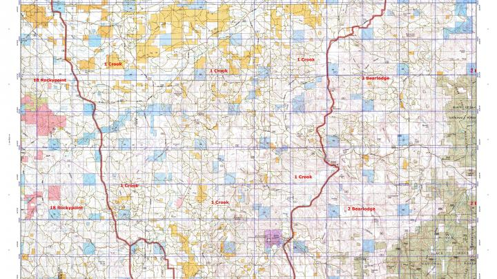 Purchase Your Wyoming Elk Game Management Unit (GMU) Map Today Preview Image