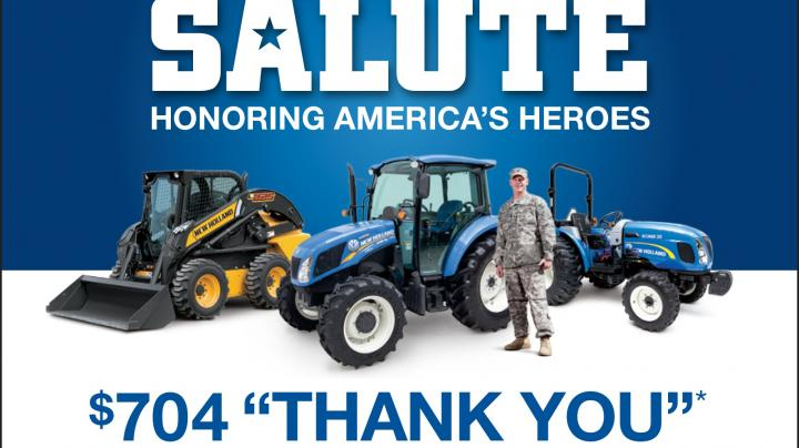 New Holland's True Blue Salute Supports Nation's Heroes with Equipment Customer Incentive, Contributions to Fisher House Foundation Preview Image