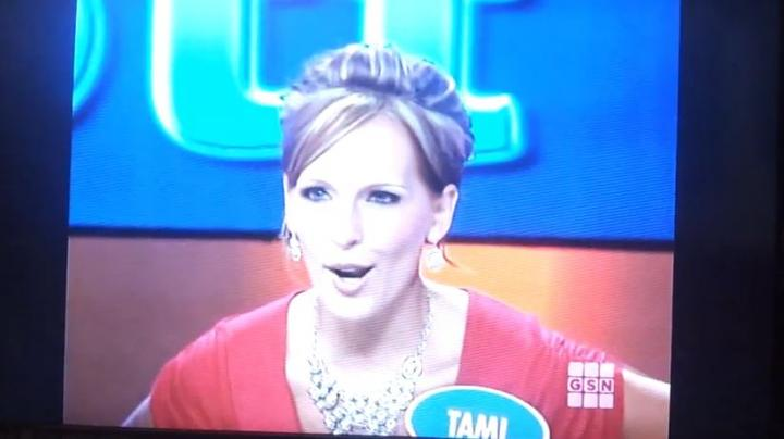 Turkey Gobbling Woman on TV's Family Feud Preview Image