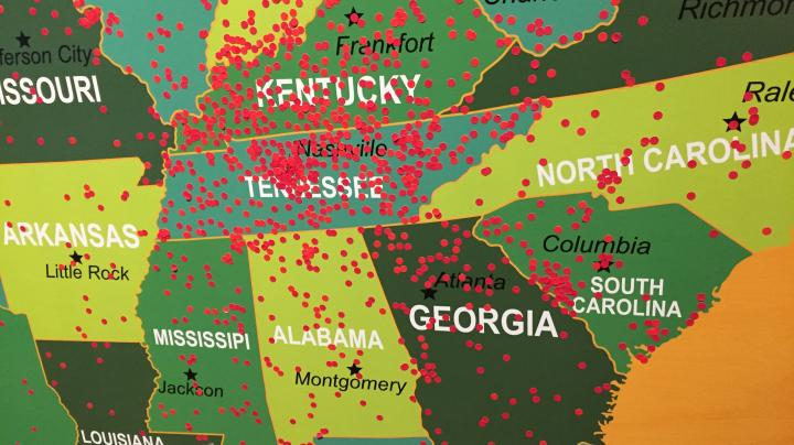 Map Photos Show Where NWTF Convention Attendees Came From Preview Image