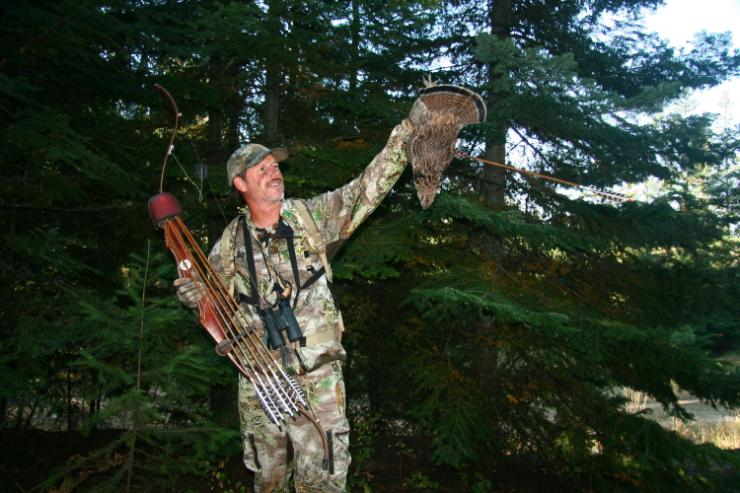 I used a Precision Designed Products Game Nabber to anchor this Idaho ruff grouse while also on the prowl for rabbits. (Patrick Meitin photo)