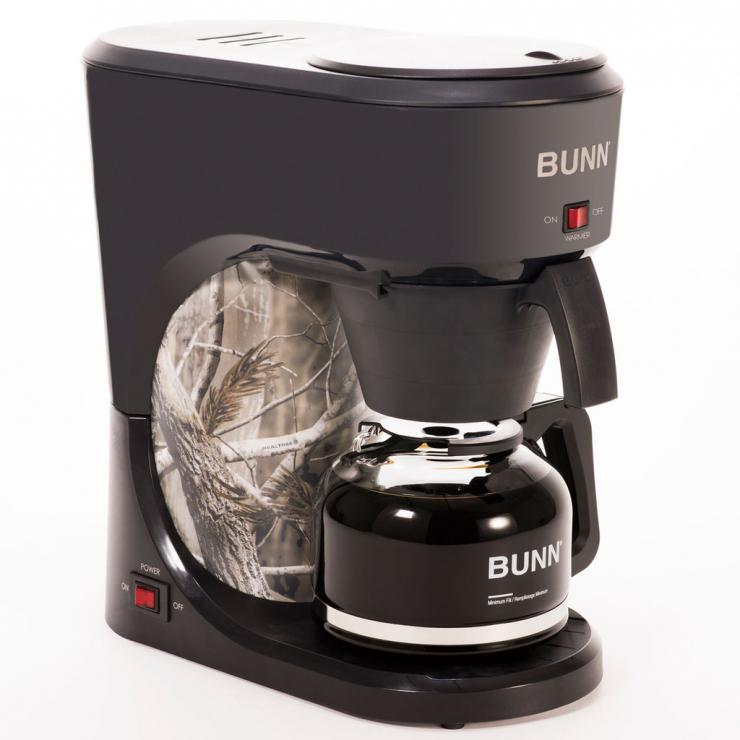 The 10 Cup Realtree Coffee Maker from Bunn works as good as it looks.
