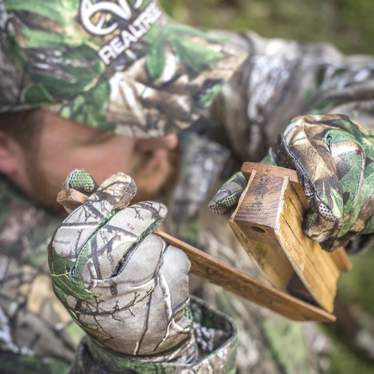Locate birds with a box call. (©Bill Konway photo)