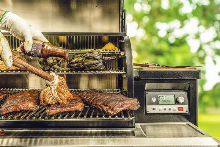 The Traeger Timberline series allows you to control the grill from anywhere using your phone.