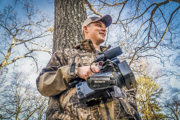 Cody McIntyre, field producer for Black Cloud on Realtree365, films more than 60 waterfowl hunts per year. Photo © Cody McIntyre