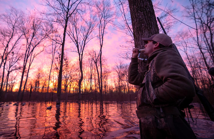 Sometimes, an hour in the morning might be all you need to scratch that duck hunting itch. Photo © Austin Ross