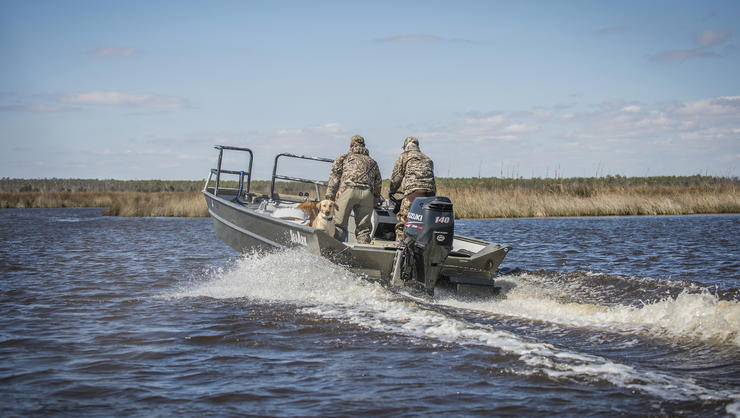 Waterfowlers should prepare their boats and adopt a safety-first attitude on the water. Photo © Bill Konway
