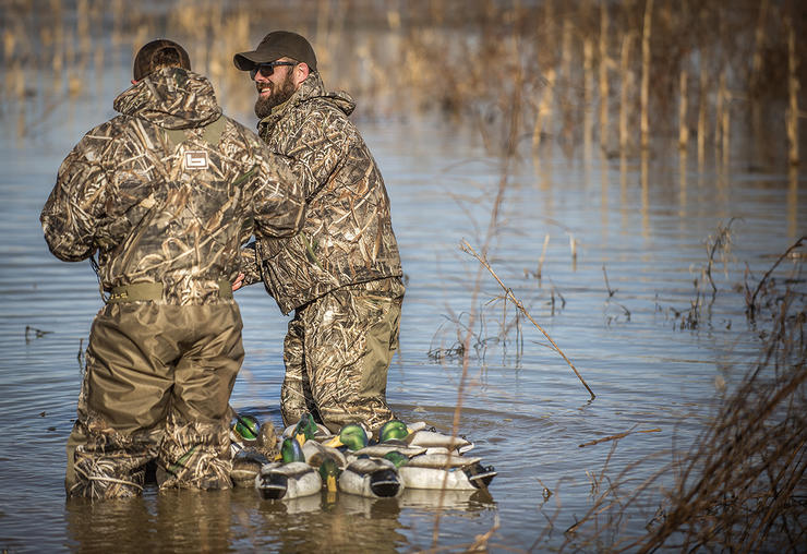 Waterfowling is always more enjoyable when shared, but hunting with a friend presents challenges. Photo © Bill Konway
