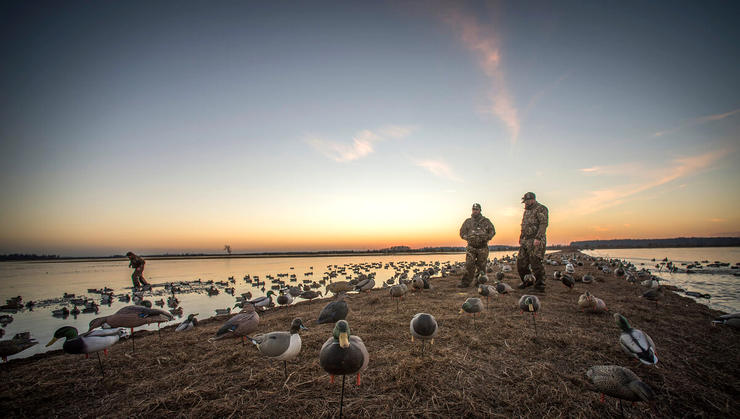 Top waterfowlers don't depend on luck. They innovate and try every trick possible to fill straps. Photo © Bill Konway