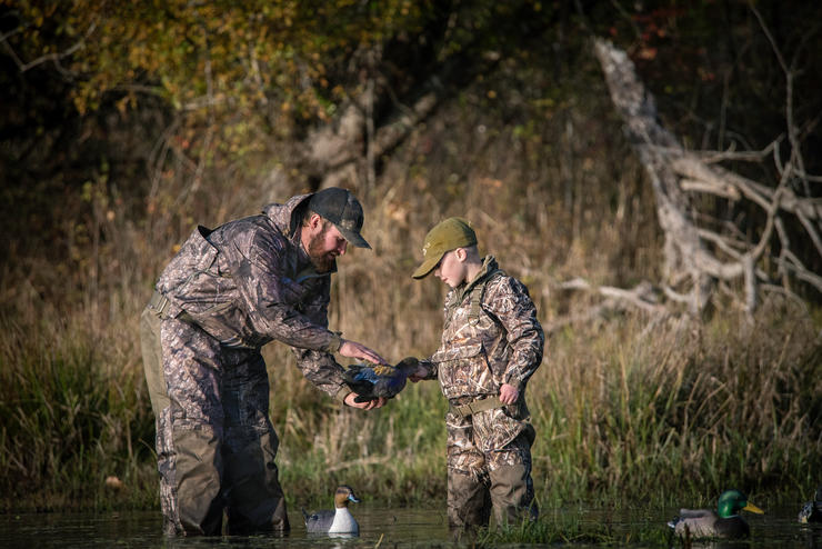 Waterfowl hunter numbers have decreased, but programs such as Delta's First-Duck Pin effort have boosted recruitment. Photo © Mike Reed