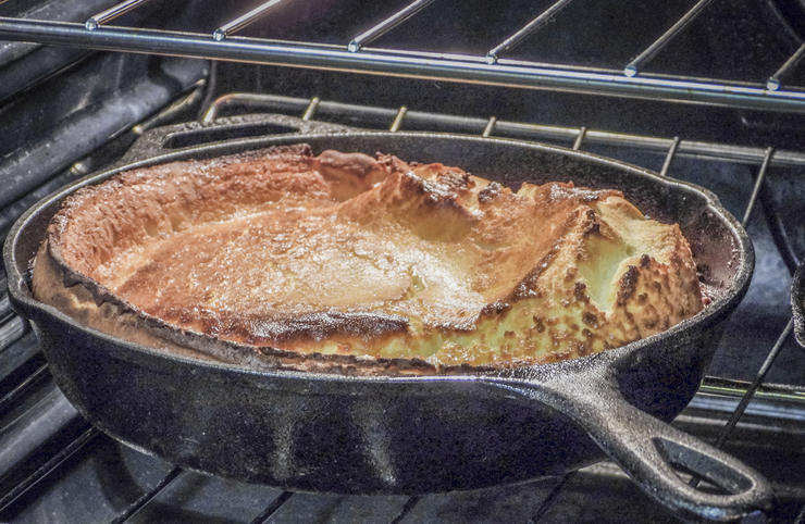 A well-seasoned cast iron pan can be nearly as nonstick as modern Teflon coated pans.