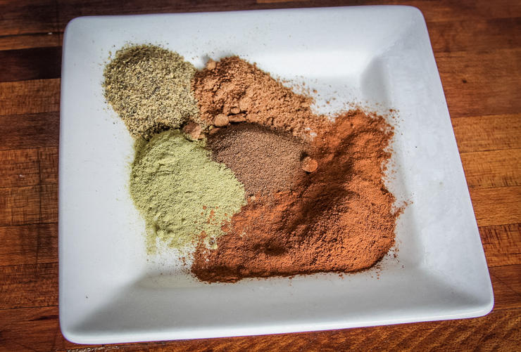 The spice blend for this recipe gives it a peppery kick and a bit of sweetness.