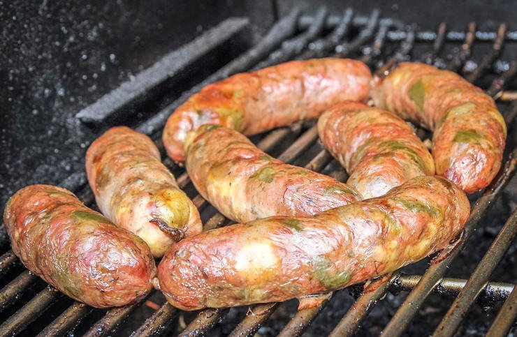 Grill the brats at lower temps to prevent all of the fat from rendering out and leaving the brat dry.