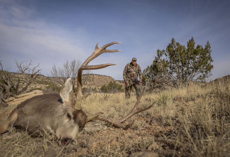 Spending plenty of time behind the glass can help locate the target buck you're looking for. (Brian Strickland photo)