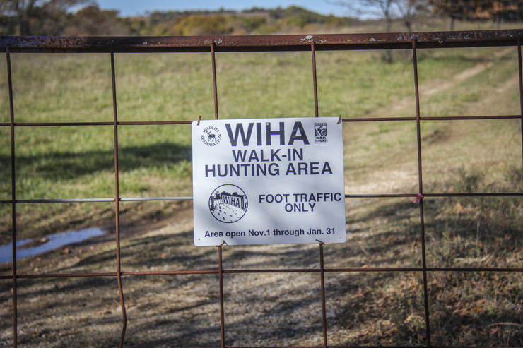 Walk-in hunting access areas are growing across the US. The programs compensate landowners for allowing hunting on their land. (Bernie Barringer photo)