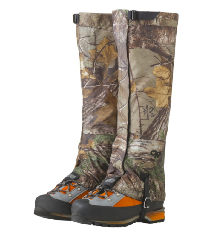 The durable, traditional packcloth construction and no-bulk design of the Outdoor Research Rocky Mountain High Gaiters is all you need for solid, all-season performance. Pair these lightweight gaiters with a wide array of footwear to keep rocks, dirt and light snow from finding its way into your shoes. Now available in Realtree camo. (Outdoor Research photo)