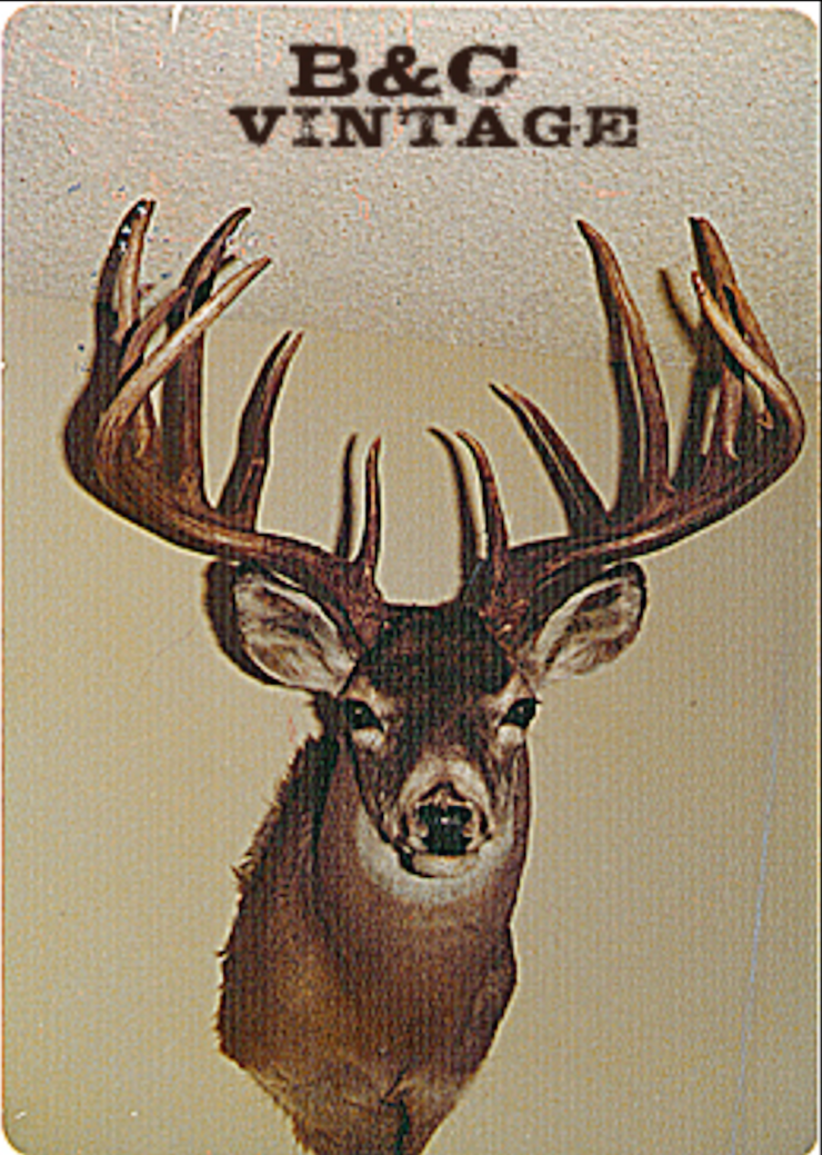 The Montana state record and the 20th largest typical buck of all time, the Dellwo buck has everything you could ever want in a giant typical whitetail. (Boone and Crockett photo)
