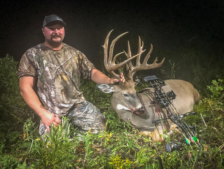 Ryan Carrier's buck sported 19 scoreable points, and two more that were just shy of being tallied. (Ryan Carrier photo)