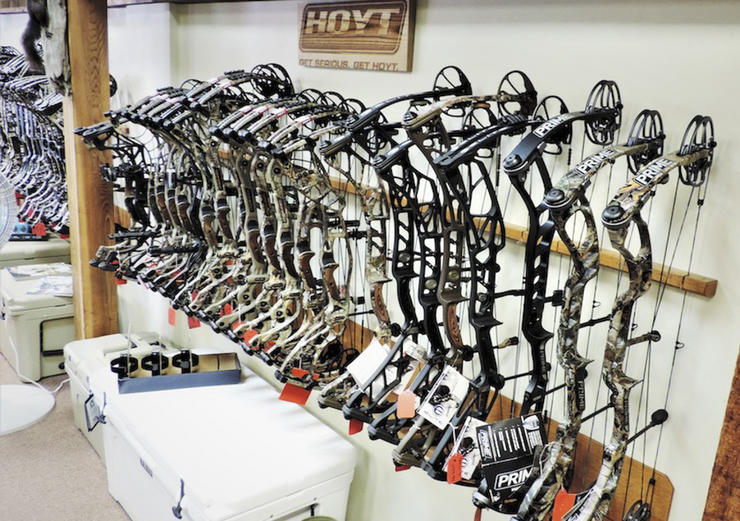 Shopping at an archery pro shop gives you access to premium brand-new bow makes/models that aren't available across the Internet. (Darron McDougal photo)