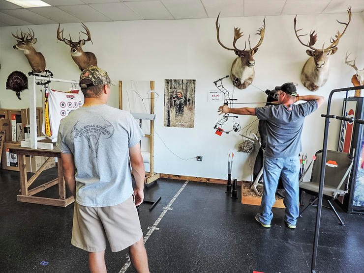Before you purchase a new bow, the benefit of going the pro-shop route is test-firing several bows so you can feel the differences. (Darron McDougal photo)