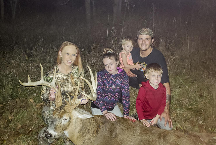 The buck was a culmination of work the entire family had put in on the farm to make it better deer habitat.