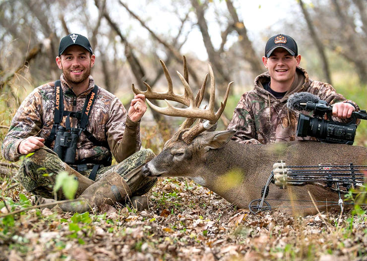 The Hunting Public guys like to scout for bedding areas in the immediate post season. (THP Photo)