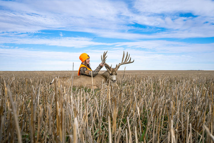 Danker's Colorado buck called the open prairie home. It's a different style of hunting in such terrain. (BuckVentures photo)