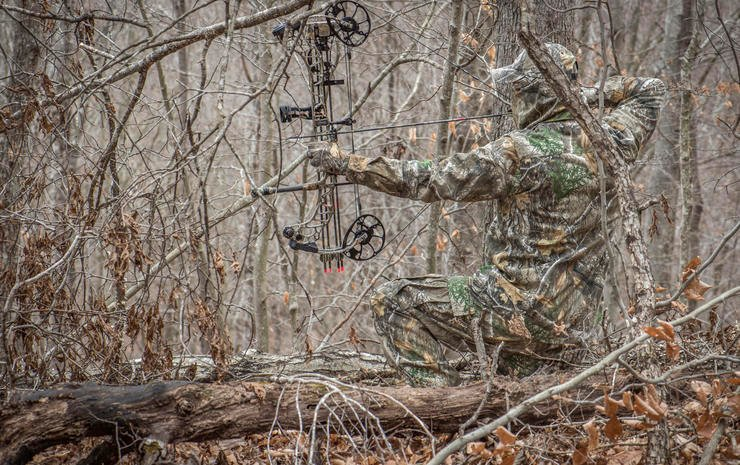 Consider shooting a shorter axle-to-axle bow to take advantage of turkey hunter-style setups on the ground. It can be killer on whitetails. (Bill Konway Image)