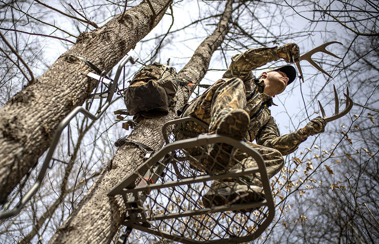 Bucks travel miles per day during the rut. Stay in your stand for the long haul. (Bill Konway Image)