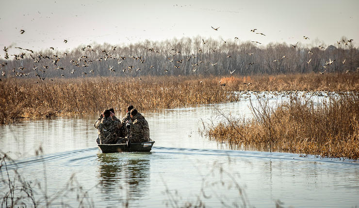 Southeastern Missouri annually holds hundreds of thousands of wintering ducks and geese. Hunters have taken notice. Photo © Bill Konway
