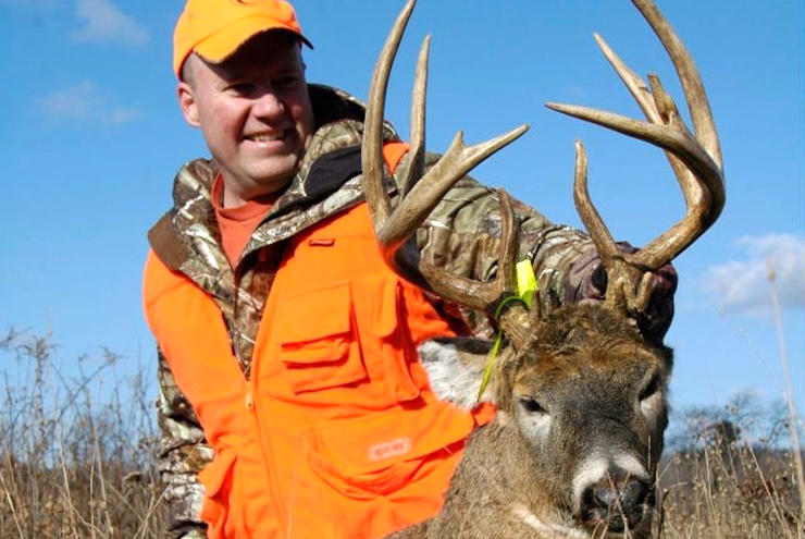 Wisconsin resident Dan Schmidt tagged this 157-inch buck in a 17-acre woodlot. He is a co-owner and editor-in-chief of Deer & Deer Hunting. Along with the DNR, he believes a lengthened rifle season will not negatively impact herds. (Photo courtesy of Dan Schmidt)
