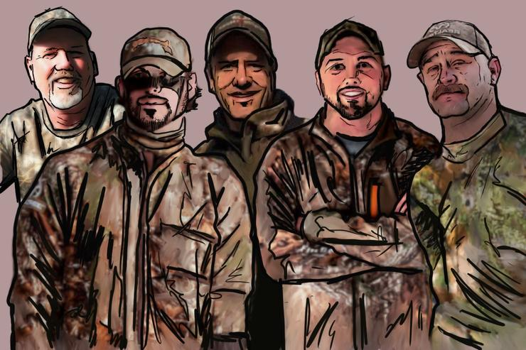 Five guys from different states, regions and walks of life talk about deer hunting where they call home. (Ed Anderson illustration)