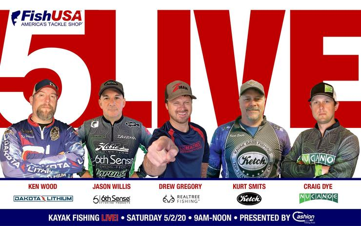 Support Realtree Fishing pro Drew Gregory by joining the Kayak Bass Fishing Facebook page Saturday, May 2, starting at 9 a.m. (ET) for a three-hour live broadcast event. (Courtesy photo)