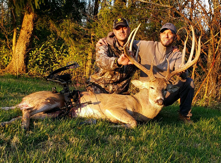 Brothers Johnny and Tommy Ferrell enjoy spending time together in a tree stand as they hunt and film big Ohio whitetails.