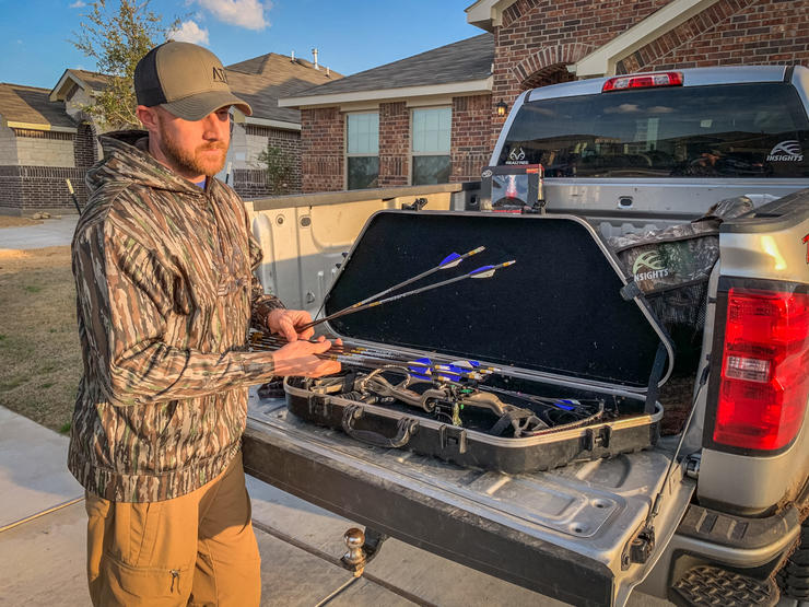 All Things Hunting's Kyle Barefield encourages shooting under high-stress situations to mimic adrenaline-rich, in-the-field moments. (Kyle Barefield photo)
