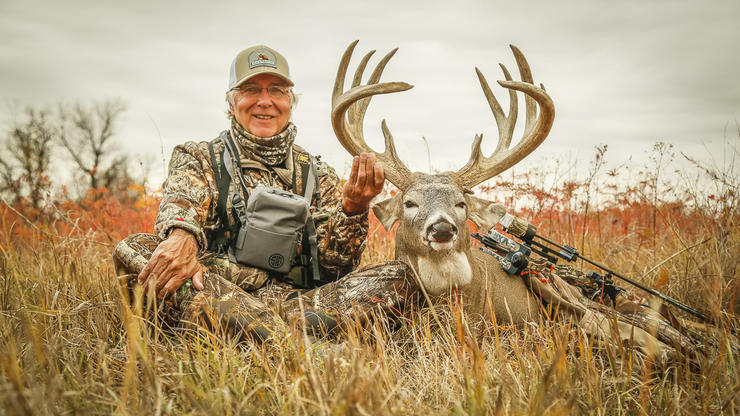 Buckmasters founder Jackie Bushman bagged this incredible Montana whitetail in October. (Buckmasters photo)