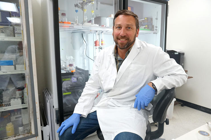 Davin Henderson is a protein chemist and founder of CWD Evolution. He is developing a new tool efficient enough to test live animals for CWD. (CWD Evolution photo)
