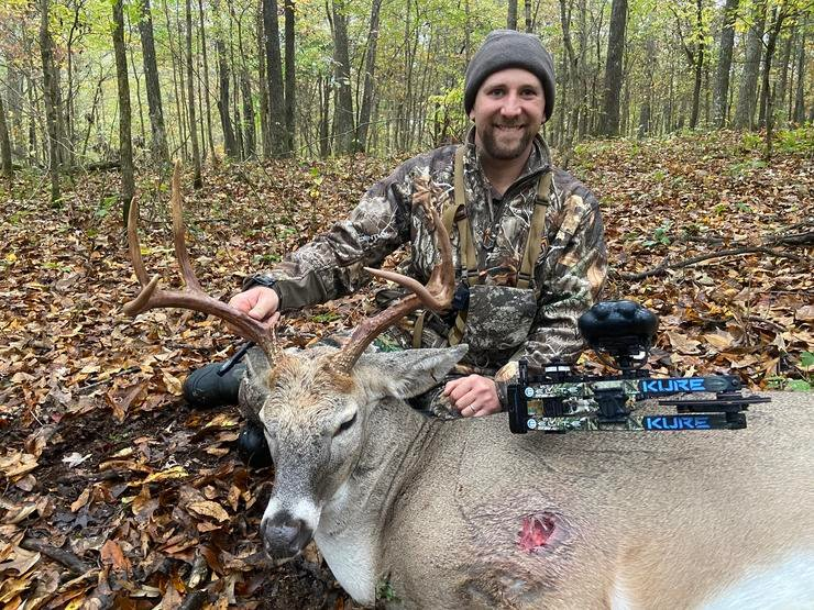 Is that hit too far forward? No. It centered this buck's heart, and he fell within sight.