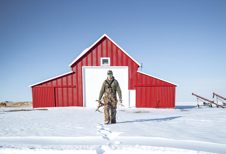 You can sit inside and watch it snow, or get out there and look for deer sign. Which will it be?
