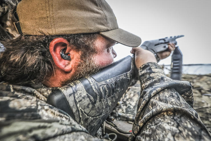 Waterfowl hunting in close proximity to other shooters can be particularly damaging to hearing. Image by Tetra Hearing