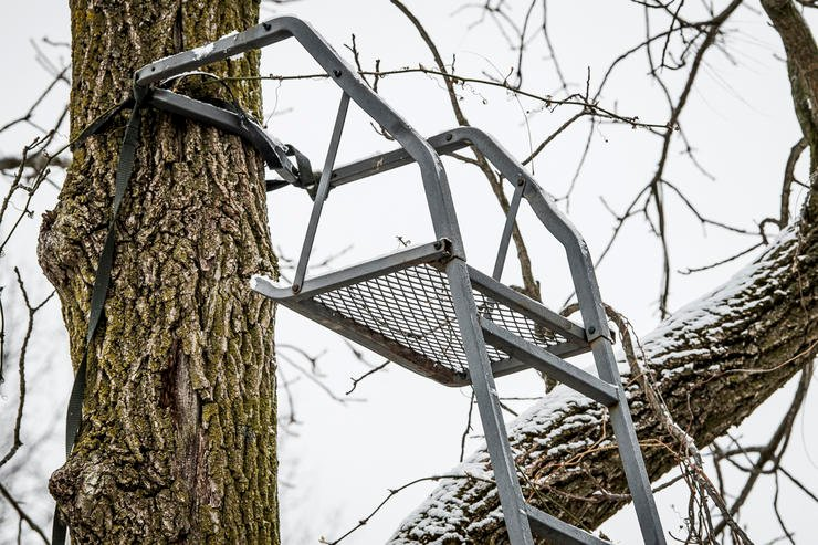 Proper treestand maintenance and upkeep is very important for safety. Image by Bill Konway