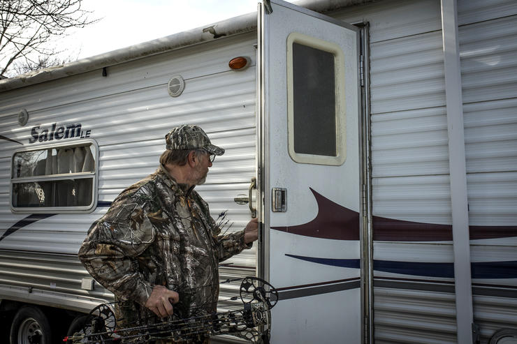 RVs have skyrocked in popularity among hunters. Image by Bill Konway