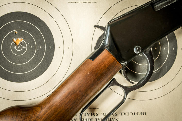 A lever-action rimfire can be quite fun, and effective on small game. Image by Bill Konway