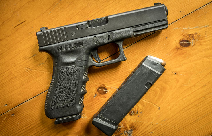 Handguns are fun to shoot, and for security and peace of mind at home and in the field, they belong on everyone's list.. Image by Bill Konway
