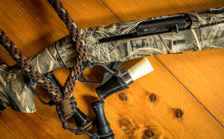 A magnum all-weather 12-gauge is at home in the turkey woods and duck blind. Image by Bill Konway