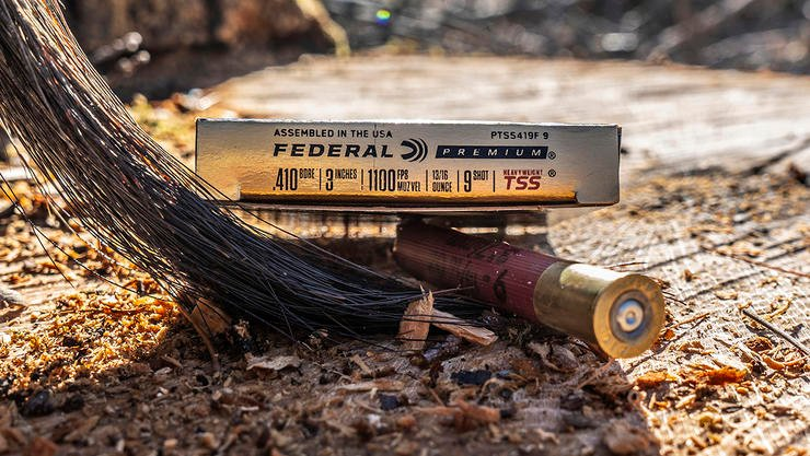 A No. 9 TSS pellet has the same amount of energy downrange as No. 5 copper-plated lead. Image by Federal Ammunition