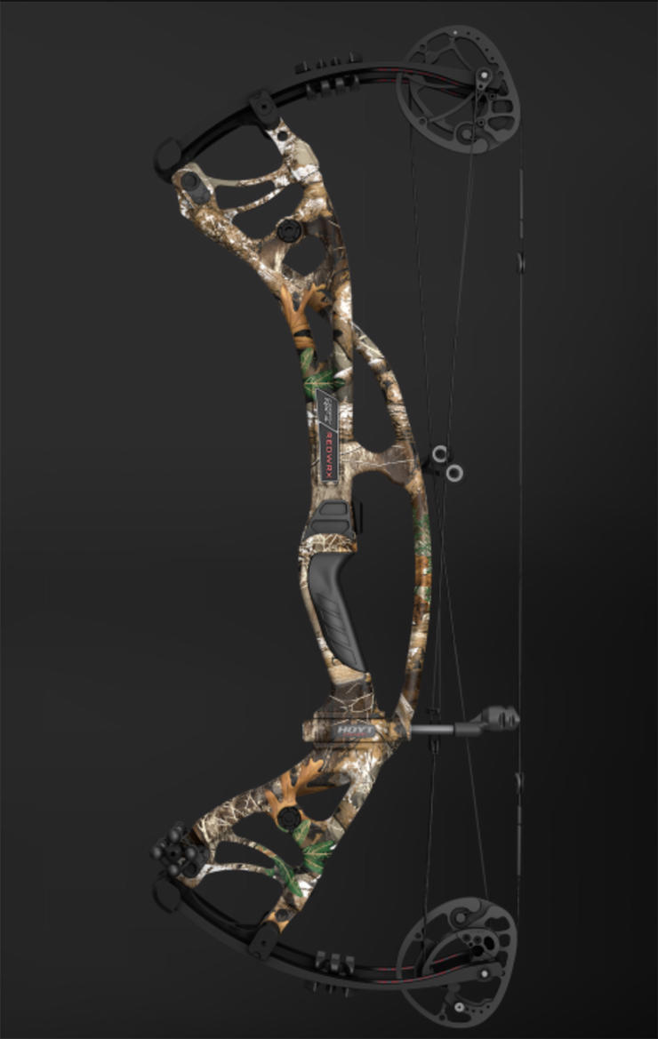 Speed bows like this Hoyt RX-4 Turbo have shorter brace heights and can be more demanding to draw, but the performance payoff is worth it. Image by Hoyt